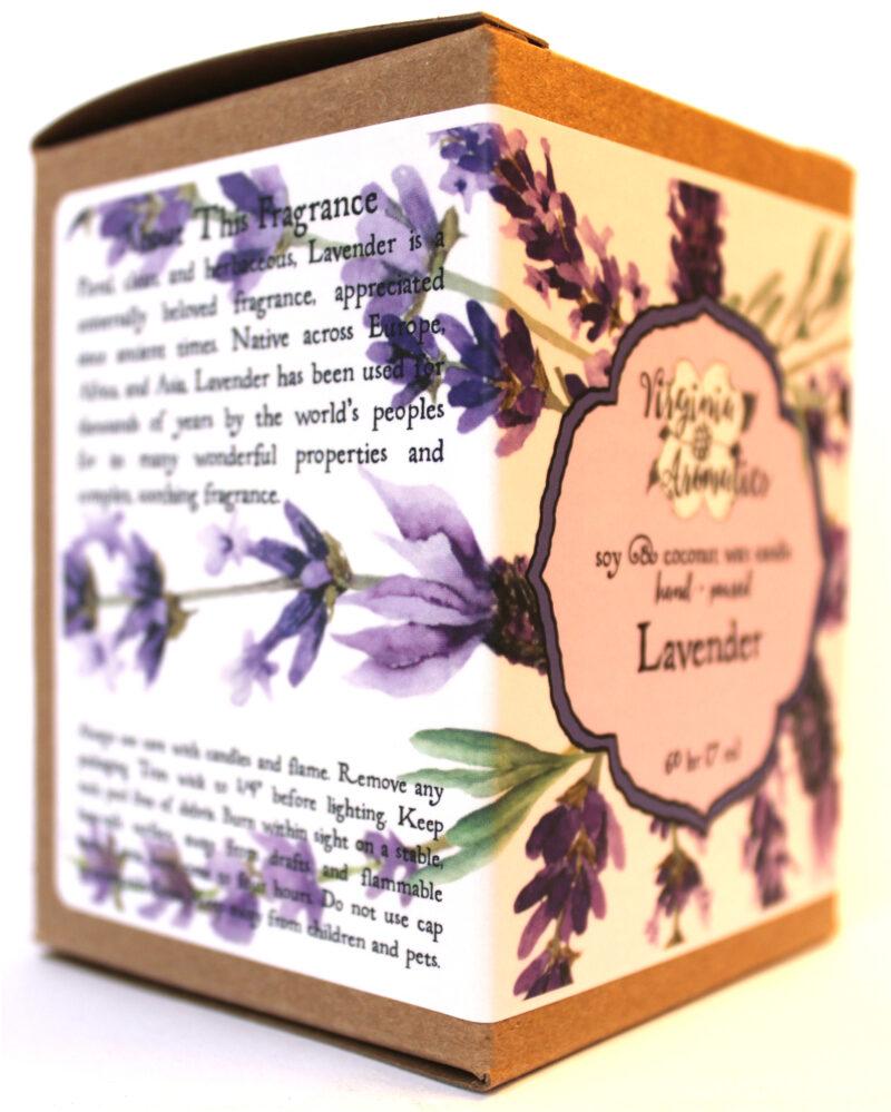 Virginia Aromatics Candle Lavender oblique left