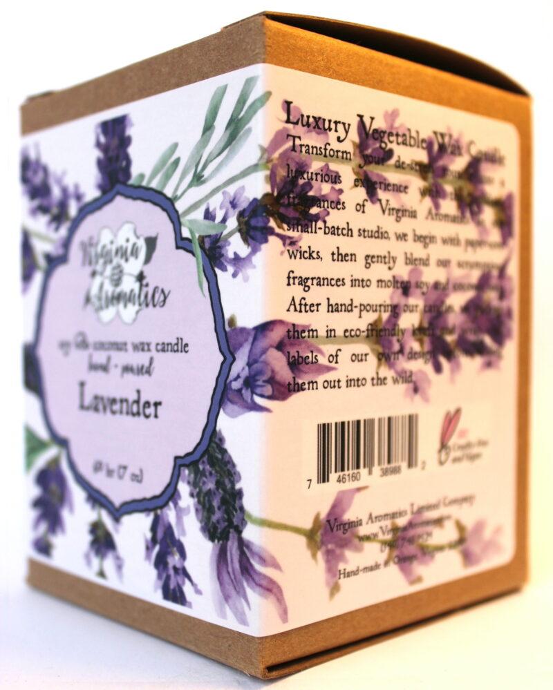 Virginia Aromatics Candle Lavender oblique right
