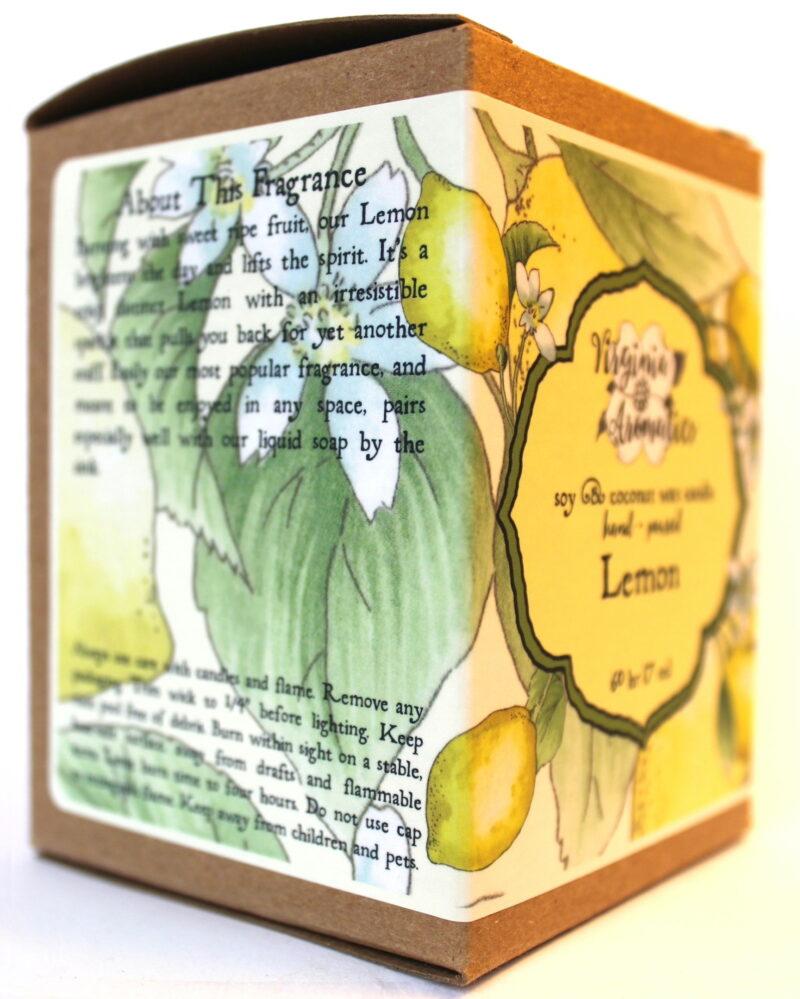 Virginia Aromatics Candle Lemon oblique left