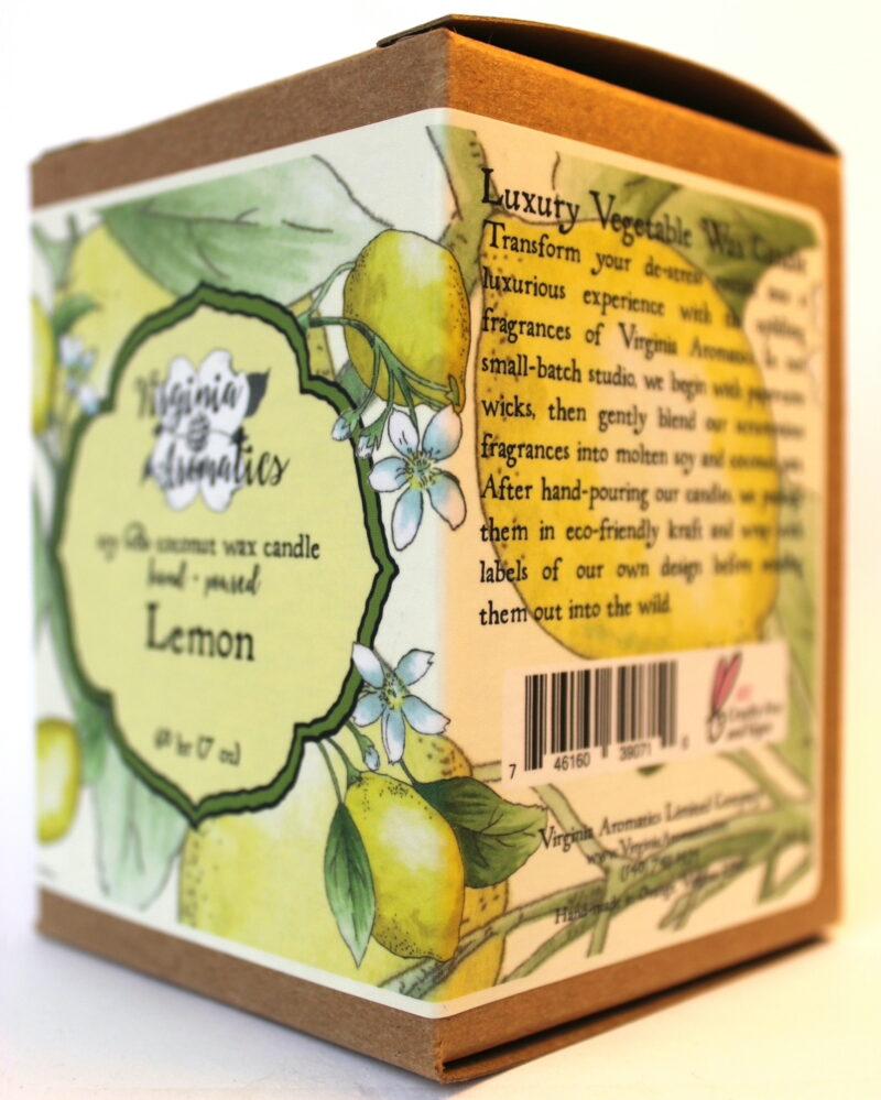 Virginia Aromatics Candle Lemon oblique right