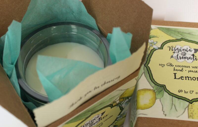 Virginia Aromatics Candle Lemon top