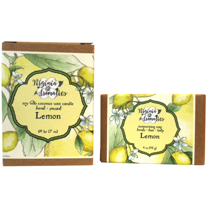 Virginia Aromatics Lemon Candle and Soap