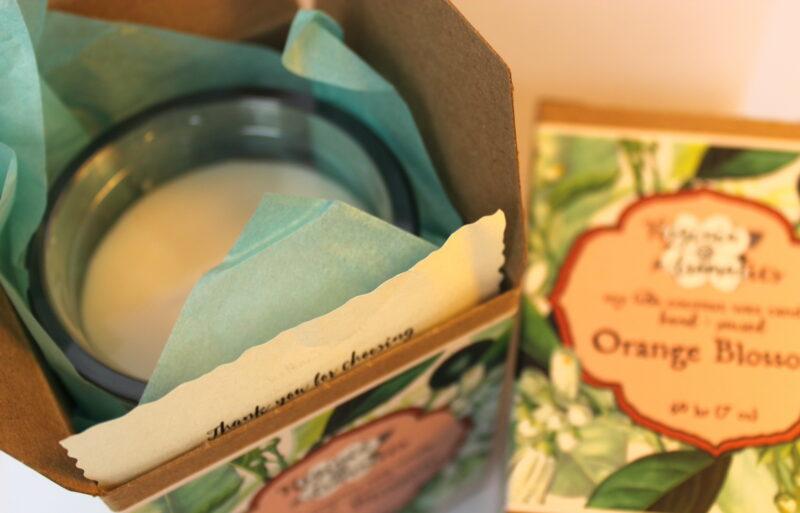 Virginia Aromatics Candle Orange Blossom top