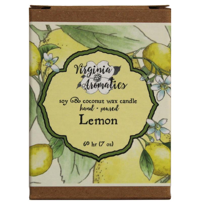Virginia Aromatics Candle Lemon box front