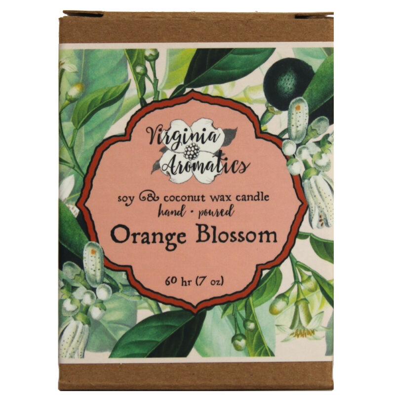 Virginia Aromatics Candle Orange Blossom box front