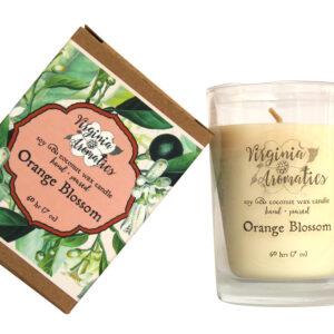 Virginia Aromatics boxed tumbler candle orange blossom