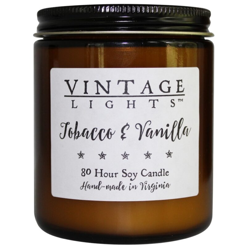 Virginia Aromatics Candle Vintage Lights Tobacco Vanilla