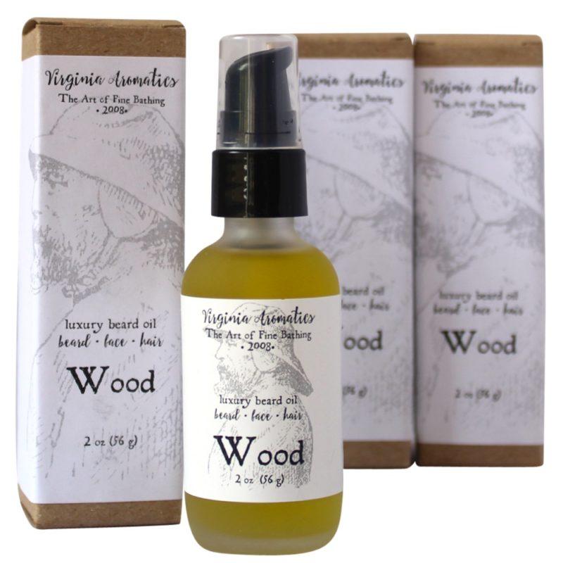 Virginia Aromatics Beard Oil serum pump bottle with boxes