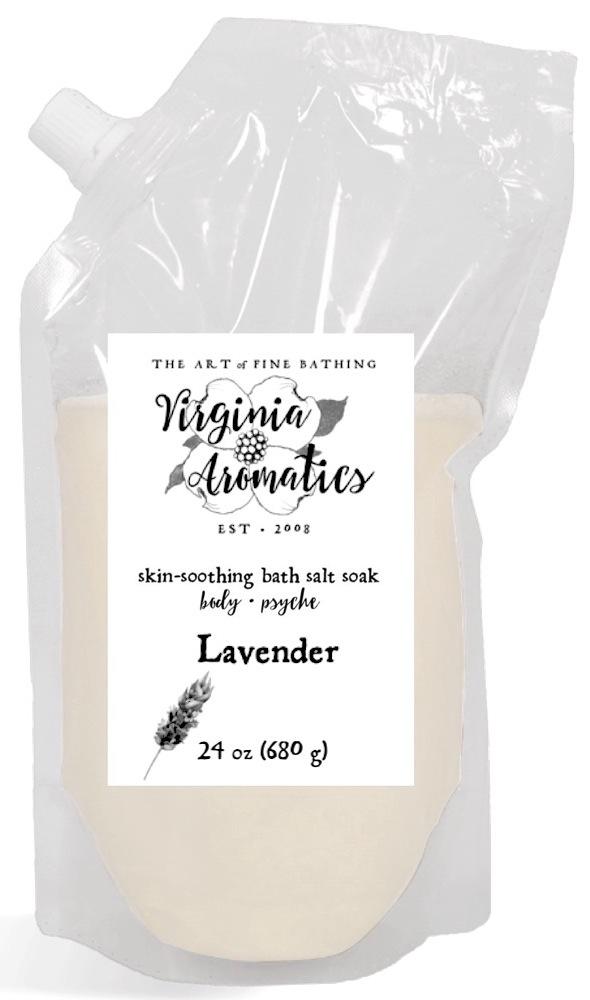 Virginia Aromatics bath salt soak large lavender